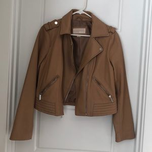 Michael Kors Nude Leather Jacket
